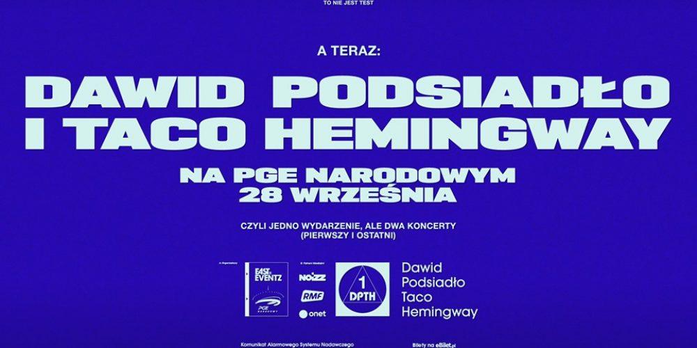 Dawid Podsiadło i Taco Hemingway na PGE Narodowym!